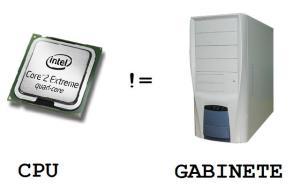 El gabinete y el procesador son cosas diferentes